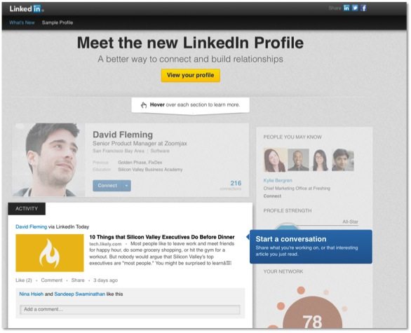 The new LinkedIn Profile helps showcase your content